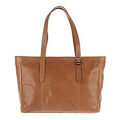 Portobello W11 - Dark tan 'Maisy' soft leather handbag