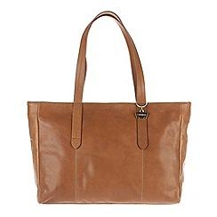 Portobello W11 - Dark tan 'Maisy' soft leather handbag