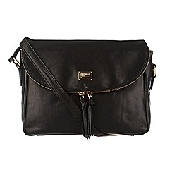 Portobello W11 - Black 'Polly' leather and suede across body bag