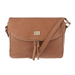Portobello W11 - Tan 'Polly' leather small across-body bag