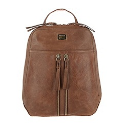 Portobello W11 - Bombay tan 'Mimi' soft leather small backpack