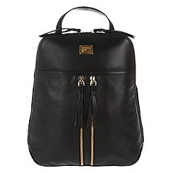 Portobello W11 - Black 'Mimi' small leather backpack