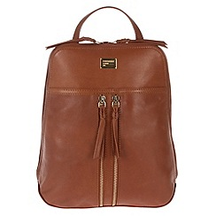 Portobello W11 - Nutmeg 'Mimi' small leather backpack