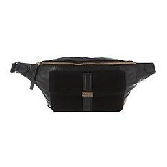 Portobello W11 - Black 'Ashley' leather and suede waist bag