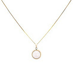 Pure Luxuries London - Gift packaged 10mm mabe pearl and 9ct yellow gold necklace