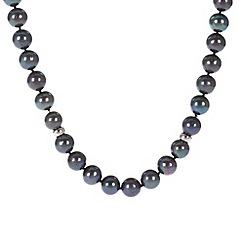 Pure Luxuries London - Gift packaged 'Lizzie' freshwater pearl spaced necklace
