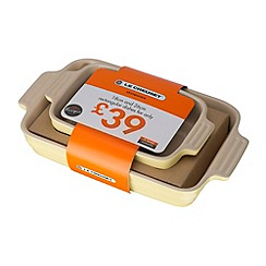 Le Creuset - Set of rectangiular dishes 18 and 26cm elysees yellow