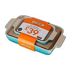 Le Creuset - Set of rectangiular dishes 18 and 26cm teal