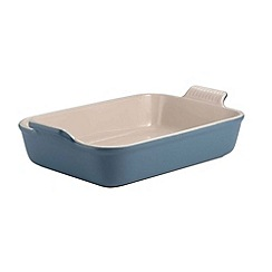 Le Creuset - Mineral blue stoneware 32cm deep rectangular dish
