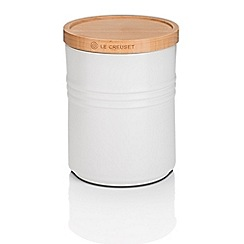 Le Creuset - Med Storage Jar with Wood Cot