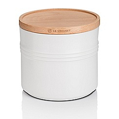 Le Creuset - XL Storage Jar with Wood Cot