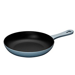 Le Creuset - Coastal blue cast iron 20cm omelette pan