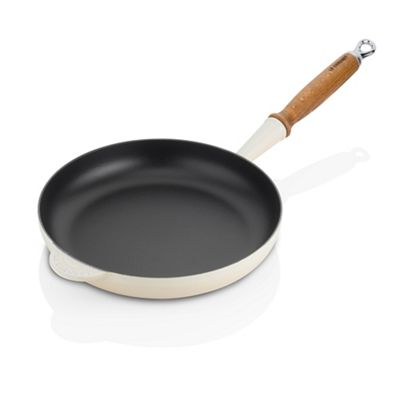 Le Creuset Almond Fry Pan 26cm with wooden handle