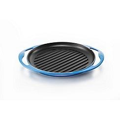 Le Creuset - Cast Iron Round Grill 25cm Marseille Blue