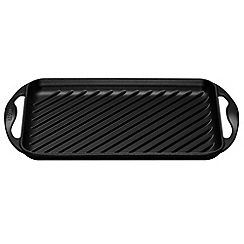 Le Creuset - Satin black cast iron 32.5cm rectangular grill