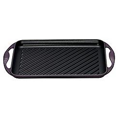Le Creuset - Cassis cast iron 32.5cm rectangular grill