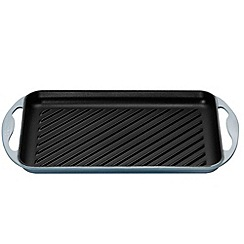 Le Creuset - Coastal blue cast iron 32.5cm rectangular grill