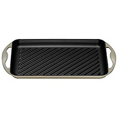 Le Creuset - Almond cast iron 32.5cm rectangular grill
