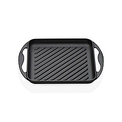 Le Creuset - Satin black cast iron 24cm square grill