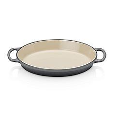 Le Creuset - Signature Cast Iron Oval Gratin Dish 28cm Flint