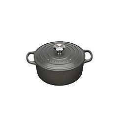 Le Creuset - Slate signature 20cm round casserole