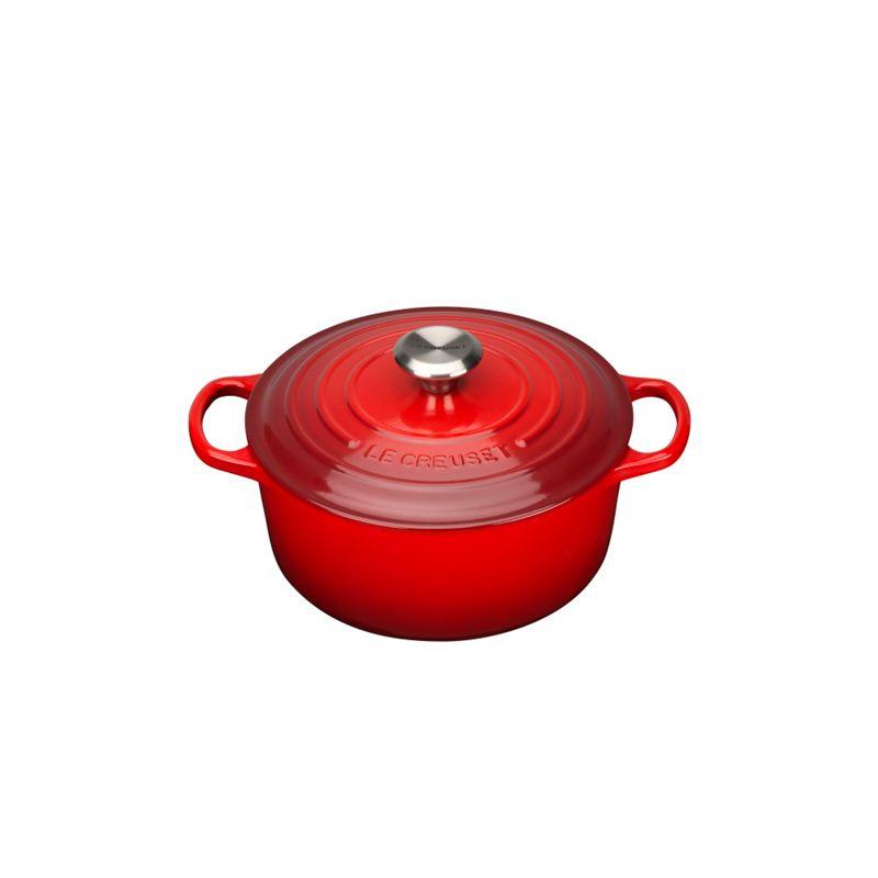 Le Creuset Cerise Signature 22cm Round Casserole, Red