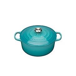 Le Creuset - Teal signature 22cm round casserole