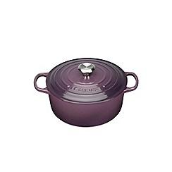 Le Creuset - Cassis signature 22cm round casserole