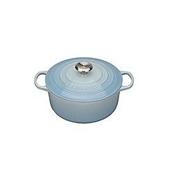 Le Creuset - Coastal Blue signature 22cm round casserole