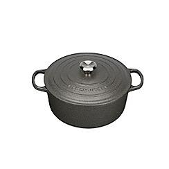 Le Creuset - Slate signature 24cm round casserole