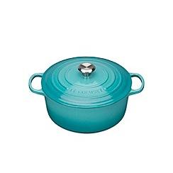 Le Creuset - Teal signature 24cm round casserole