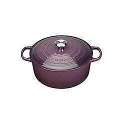 Le Creuset - Cassis signature 24cm round casserole