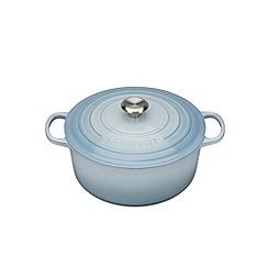 Le Creuset - Coastal Blue signature 24cm round casserole