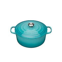 Le Creuset - Teal signature 26cm round casserole
