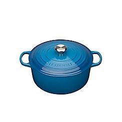 Le Creuset - Marseille Blue signature 26cm round casserole