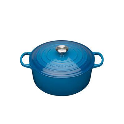 Le Creuset Marseille Blue signature 28cm round casserole