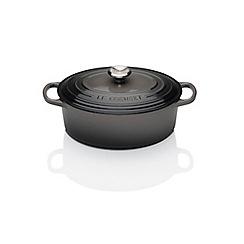 Le Creuset - Signature Cast Iron 23cm Oval casserole Flint