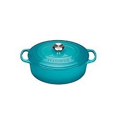Le Creuset - Teal signature 25cm Oval casserole