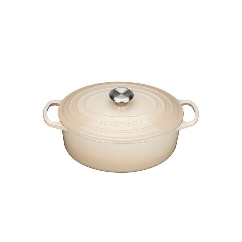 Le Creuset Almond cast iron Signature 25cm oval casserole