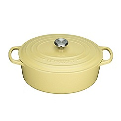 Le Creuset - Signature Oval Casserole 27cm Elysees Yellow