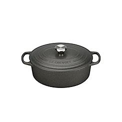 Le Creuset - Slate signature 29cm Oval casserole