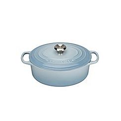 Le Creuset - Coastal Blue signature 29cm Oval casserole