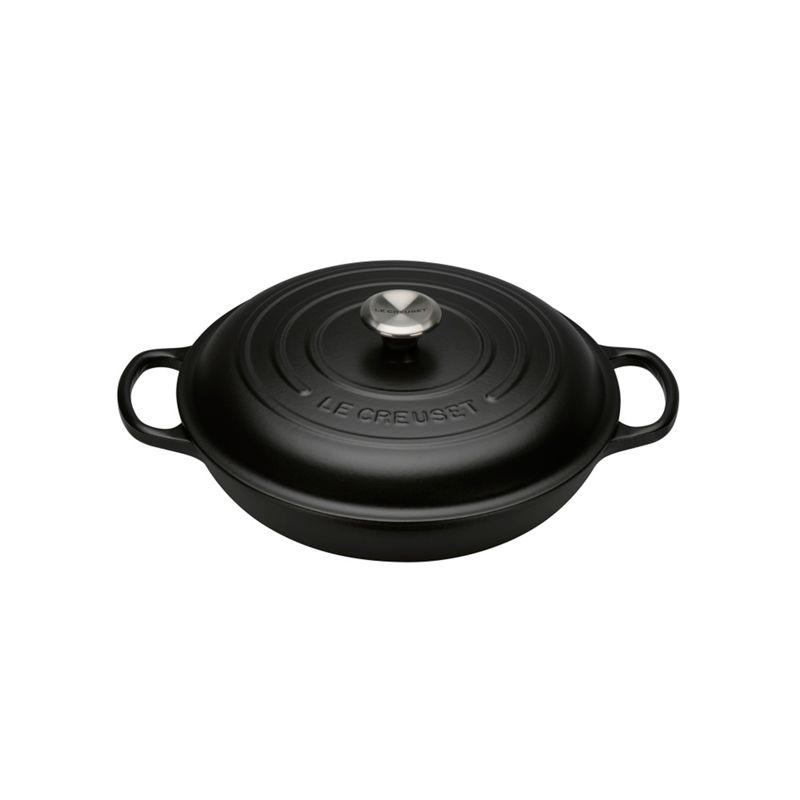Le Creuset Satin black cast iron Signature 26cm shallow