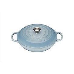 Le Creuset - Coastal Blue signature 26cm Shallow casserole