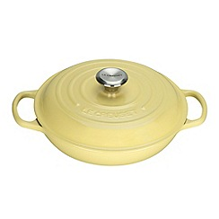 Le Creuset - Signature Shallow Casserole 26cm Elysees Yellow
