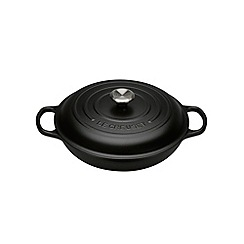 Le Creuset - Satin Black signature 30cm shallow casserole
