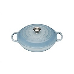 Le Creuset - Coastal Blue signature 30cm Shallow casserole