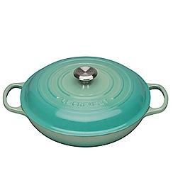 Le Creuset - Evo cool mint 30cm shallow casserole dish