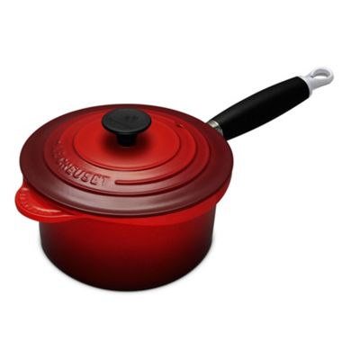 le creuset cerise cast iron 18cm saucepan. Black Bedroom Furniture Sets. Home Design Ideas