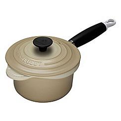 Le Creuset - Almond cast iron 18cm saucepan